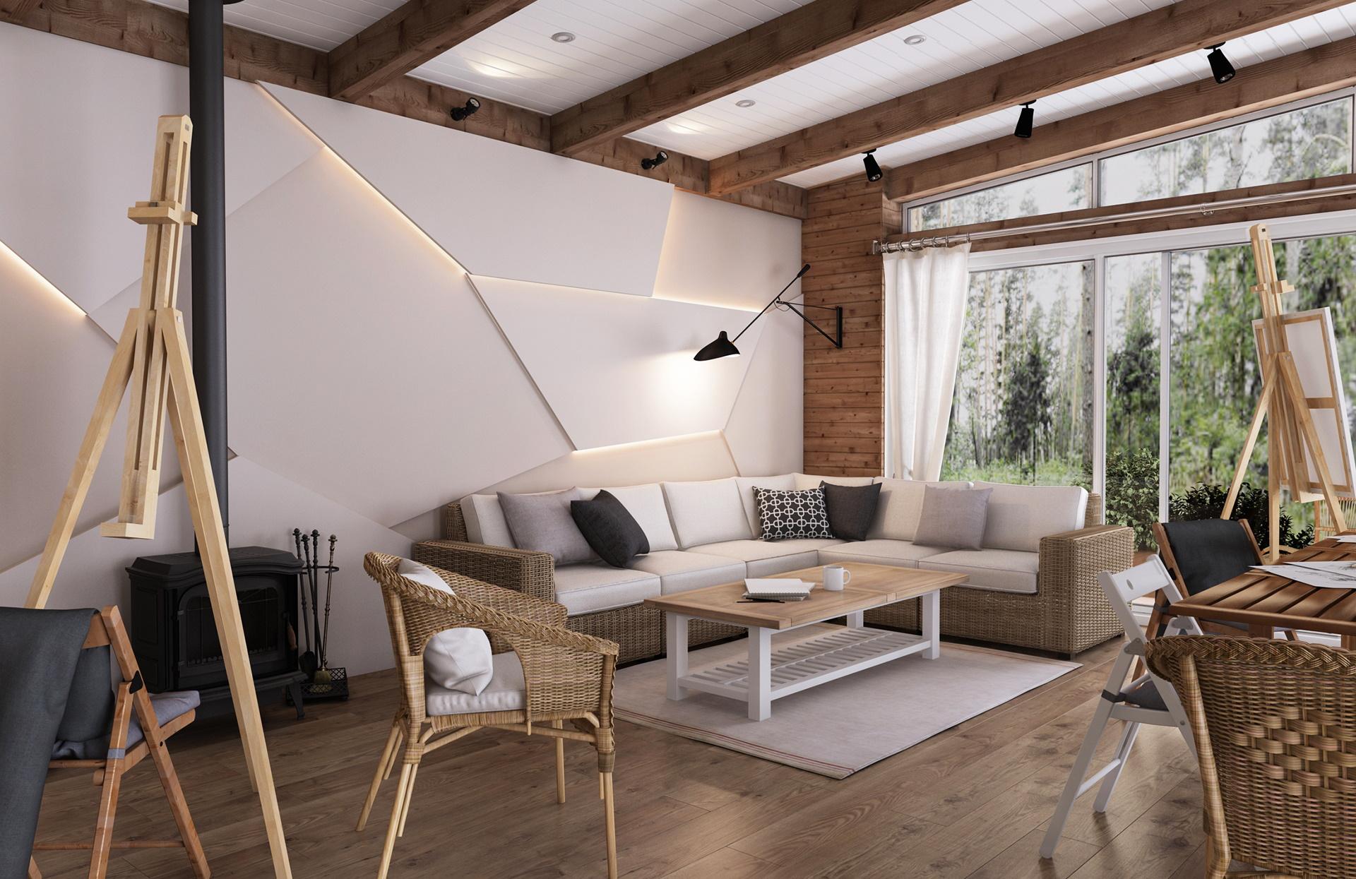 Дизайн квартиры-студии 24 кв. метра (46 фото): интерьер кухн.